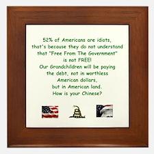 Cute Anti debt Framed Tile