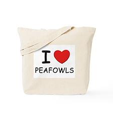 I love peafowls Tote Bag