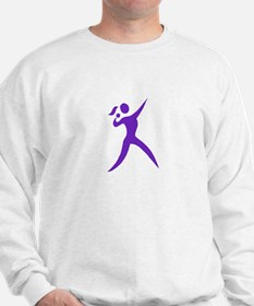 Shot Put Chick White Sweatshirt