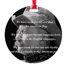 teddy_roosevelt_QUOTE_big Ornament