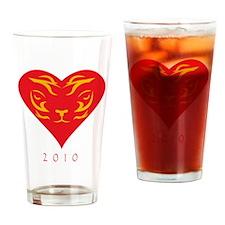 Tiger-2010 Drinking Glass