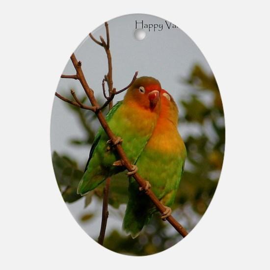 Lovebirds Oval Ornament