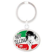 Italian Girl Oval Keychain