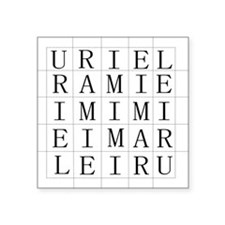 "URIEL Square Sticker 3"" x 3"""