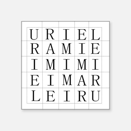 "URIEL Square Sticker 3"" x 3"""