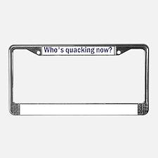 Quacking_blue License Plate Frame