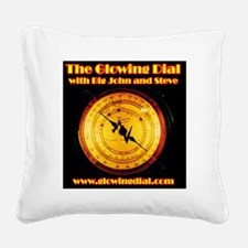 The Glowing Dial_page type lo Square Canvas Pillow