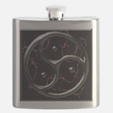 blk barbed logo pillow Flask