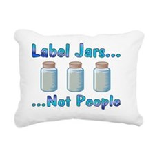 labels_transparent Rectangular Canvas Pillow