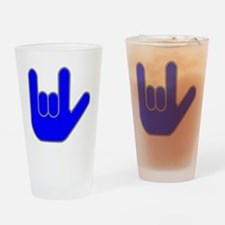 I Love You Blue.gif Drinking Glass