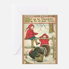 Vintage Thanksgiving Card Greeting Cards