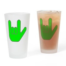 I Love You Green.gif Drinking Glass