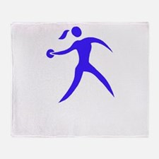 Discus Chick White Throw Blanket