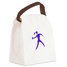 Discus Chick White Canvas Lunch Bag