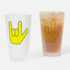 I Love You Yellow.gif Drinking Glass