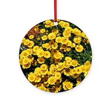 Little Sunflower Throw Pillow Round Ornament