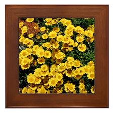 Little Sunflower Throw Pillow Framed Tile
