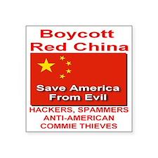 "boycott_china_save_america_ Square Sticker 3"" x 3"""