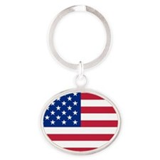 usa_round Oval Keychain