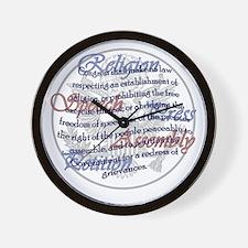 1st Amendment Wall Clock