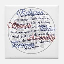 1st Amendment Tile Coaster