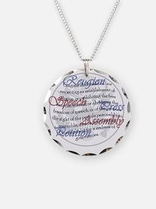 1st Amendment Necklace Circle Charm