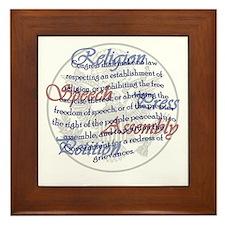 1st Amendment Framed Tile