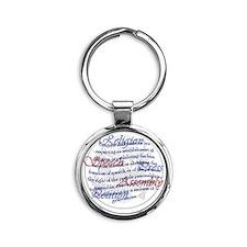 1st Amendment Round Keychain