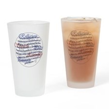 1st Amendment Drinking Glass