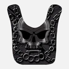 Brass knuckles skull 4 Bib