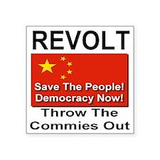 """revolt_china Square Sticker 3"""" x 3"""""""
