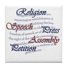 1st Amendment Tile Coaster