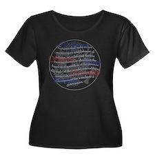 1st Amen Women's Plus Size Dark Scoop Neck T-Shirt
