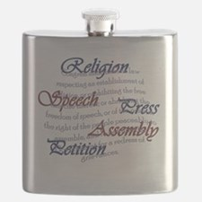 1st Amendment Flask