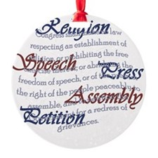 1st Amendment Ornament