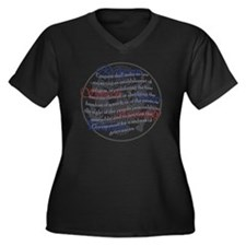 1st Amendmen Women's Plus Size Dark V-Neck T-Shirt