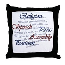 1st Amendment Throw Pillow