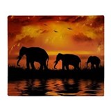 Elephants Fleece Blankets