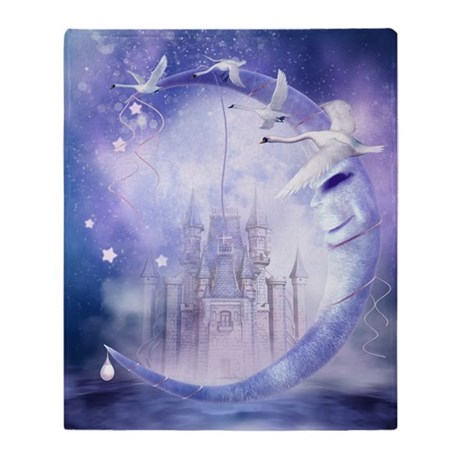 Fairytale Moon Castle Blanket