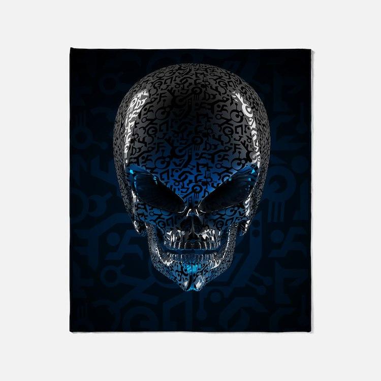 Ancient Alien Skull Blanket