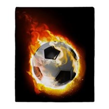 Soccer Fire Ball Blanket