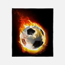 Soccer Fire Ball Blanket