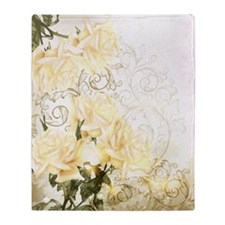 Artistic Yellow Roses Blanket