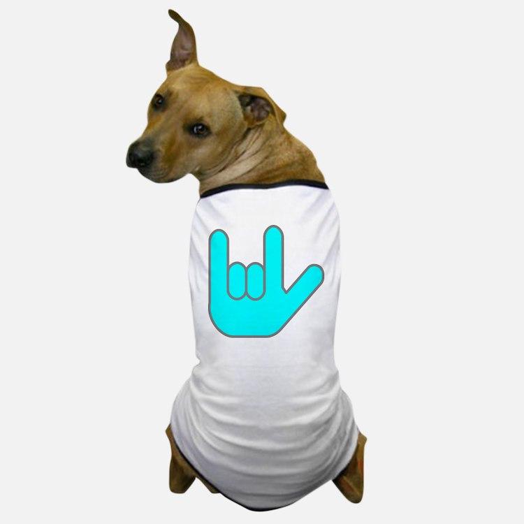I Love You Cyan.gif Dog T-Shirt
