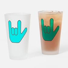 I Love You Cyan.gif Drinking Glass