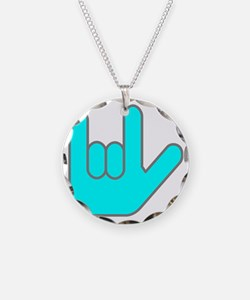 I Love You Cyan.gif Necklace