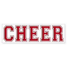 cheer-blockletters_tr Bumper Sticker
