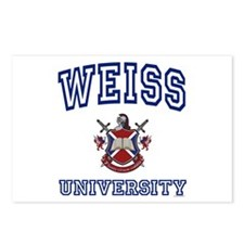 WEISS University Postcards (Package of 8)