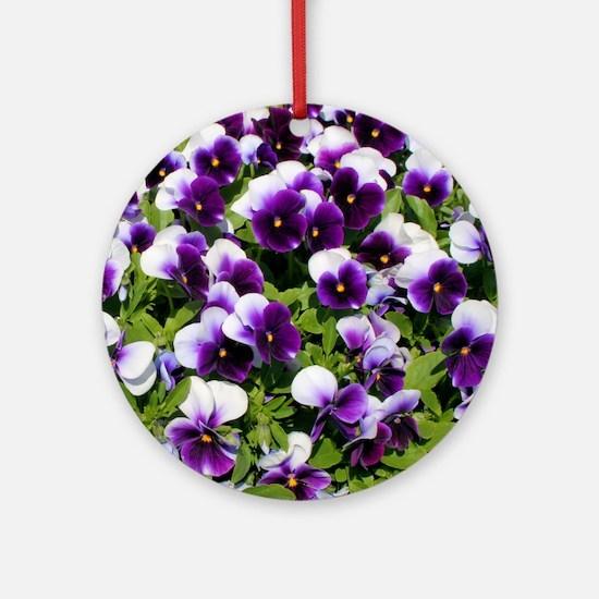 Viola Throw Pillow Round Ornament