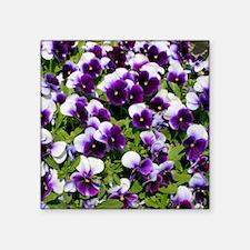 "Viola Throw Pillow Square Sticker 3"" x 3"""